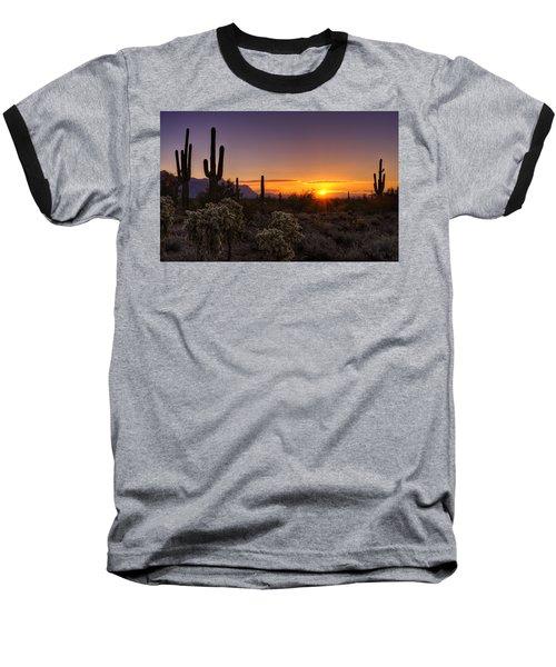 An Arizona Winter Sunrise Baseball T-Shirt
