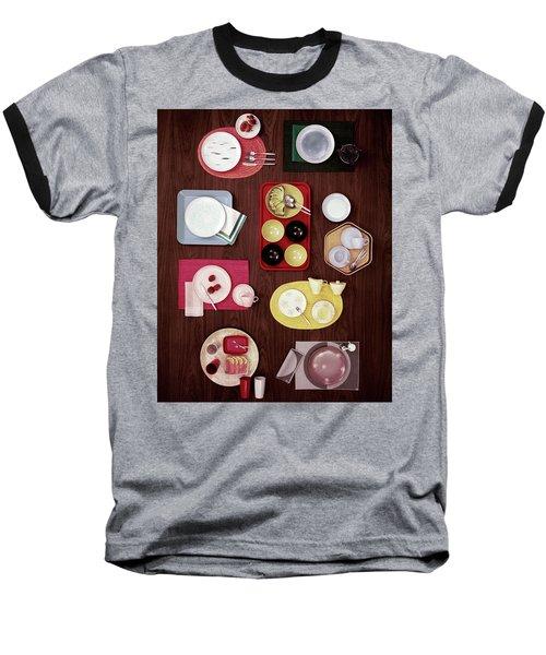 An Assortment Of Dinnerware Baseball T-Shirt