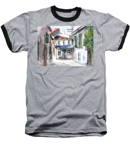 An Authentic Street In Urla - Izmir Baseball T-Shirt