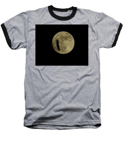 An Eagle And The Moon Baseball T-Shirt