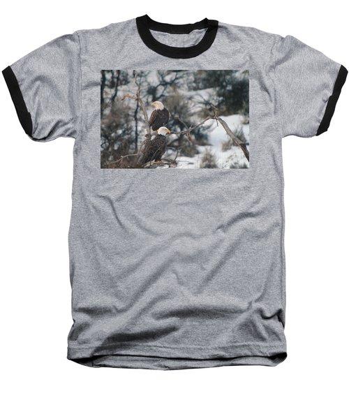 An Eagle Pair  Baseball T-Shirt