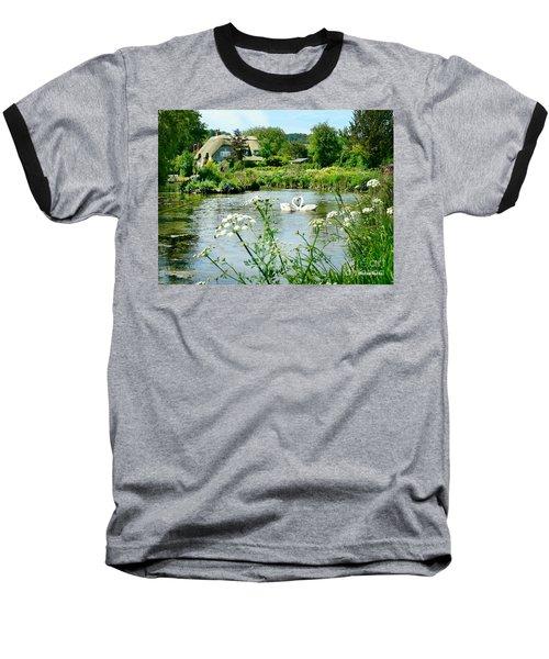 An English Cottage Baseball T-Shirt