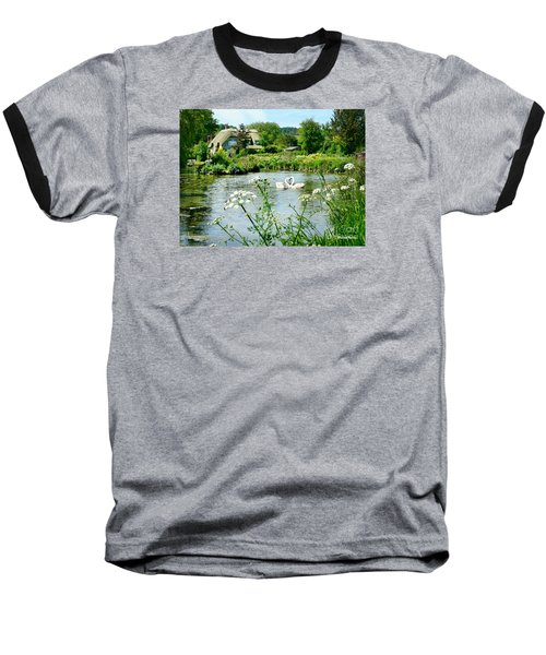 An English Cottage Baseball T-Shirt