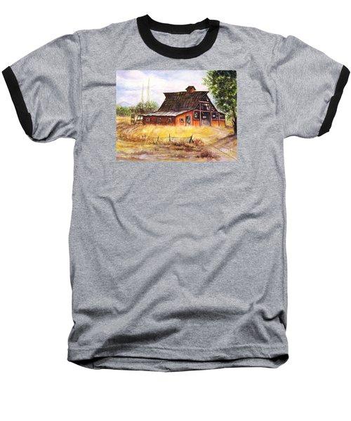 An Old Red Barn Baseball T-Shirt