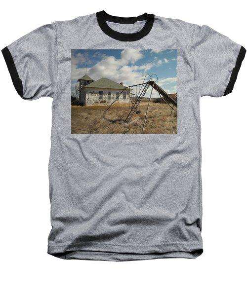 An Old School Near Miles City Montana Baseball T-Shirt by Jeff Swan