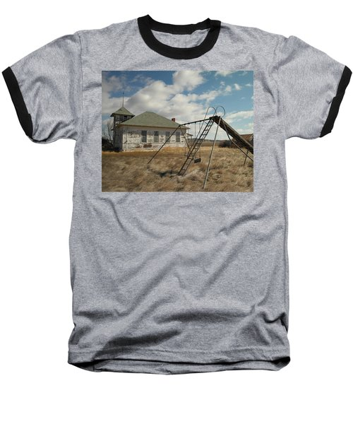 An Old School Near Miles City Montana Baseball T-Shirt