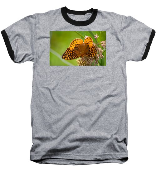 Baseball T-Shirt featuring the photograph Great Spangled Fritillary by Rima Biswas