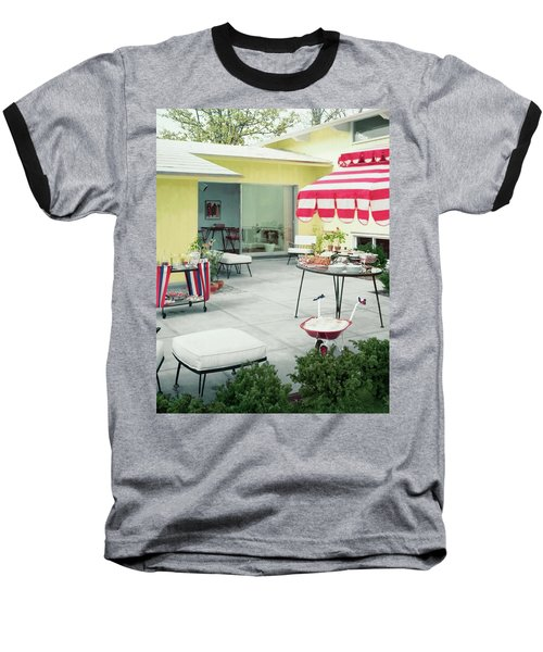 An Outside Area Set Up For A Party Baseball T-Shirt
