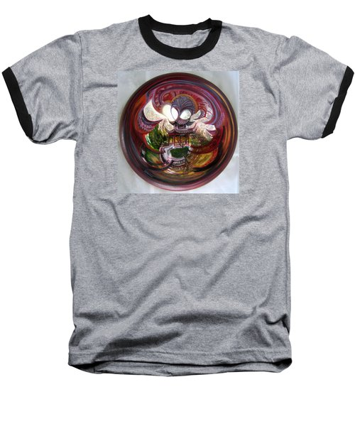 Anamorphic Chinese Pagoda Baseball T-Shirt