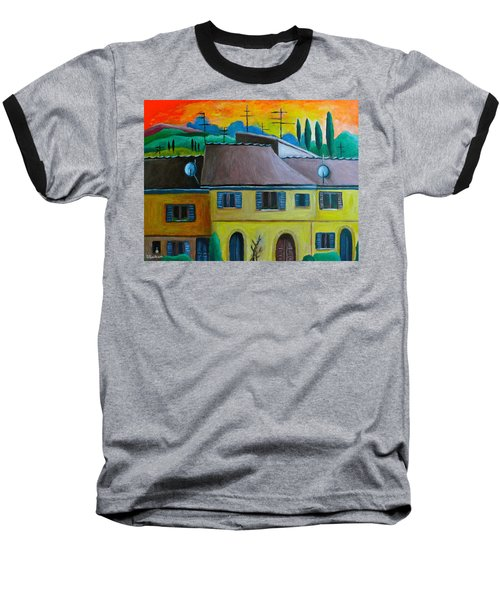Ancient Volterra Wired Baseball T-Shirt by Victoria Lakes