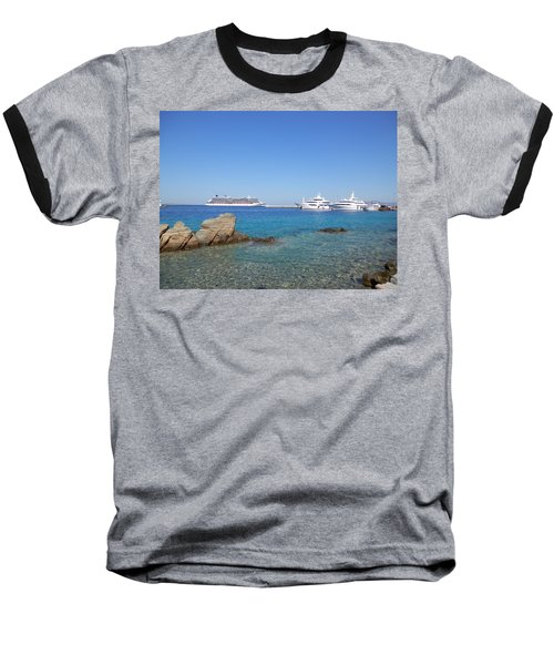 Anchored Ships Baseball T-Shirt