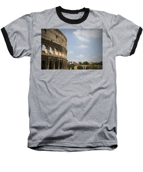 Ancient Colosseum Baseball T-Shirt by Jeremy Voisey