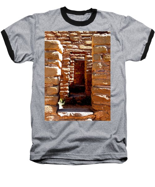Baseball T-Shirt featuring the photograph Ancient Doorways by Alan Socolik