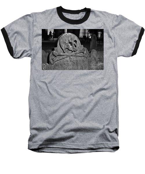 Ancient Gravestone Baseball T-Shirt