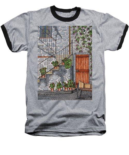 Ancient Grey Stone Residence Baseball T-Shirt