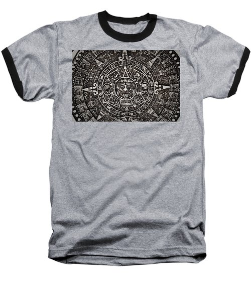 Aztec Sun God Baseball T-Shirt