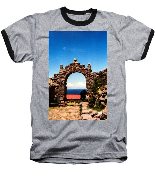 Baseball T-Shirt featuring the photograph Ancient Portal by Suzanne Luft