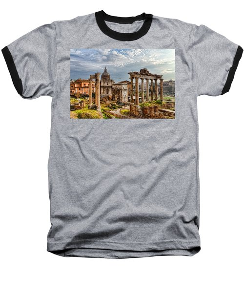 Ancient Roman Forum Ruins - Impressions Of Rome Baseball T-Shirt