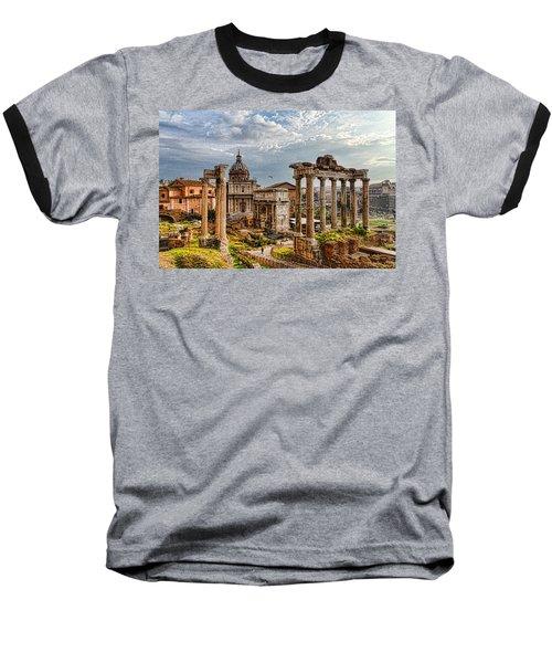 Ancient Roman Forum Ruins - Impressions Of Rome Baseball T-Shirt