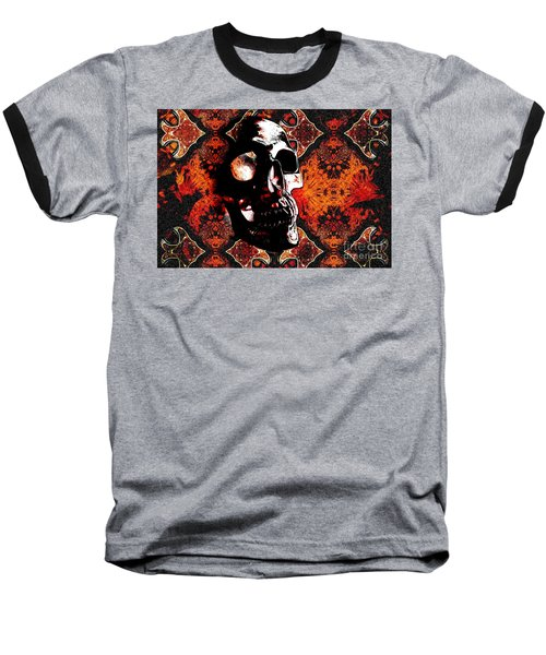Baseball T-Shirt featuring the photograph Ancient Skull by Annie Zeno