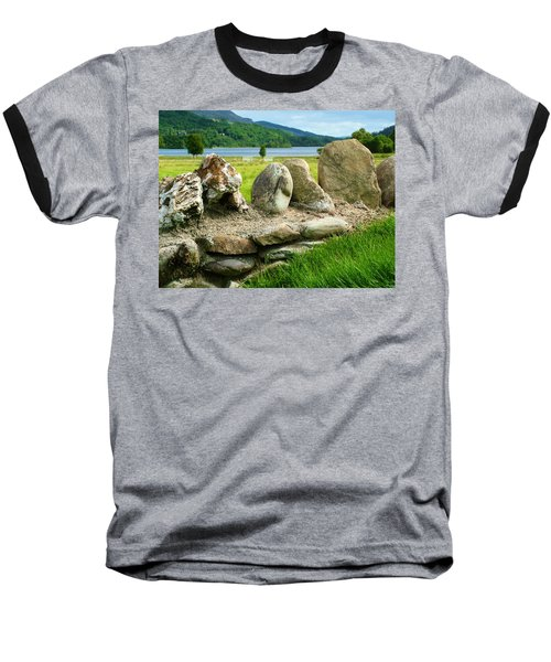 Ancient Stone Wall At Loch Achray Baseball T-Shirt