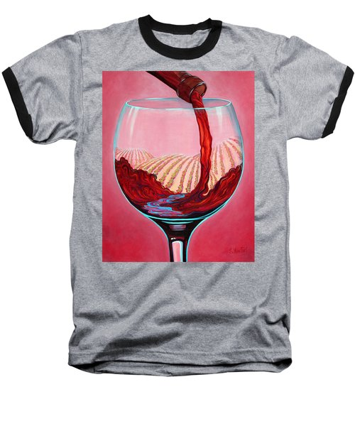 ...and Let There Be Wine Baseball T-Shirt by Sandi Whetzel