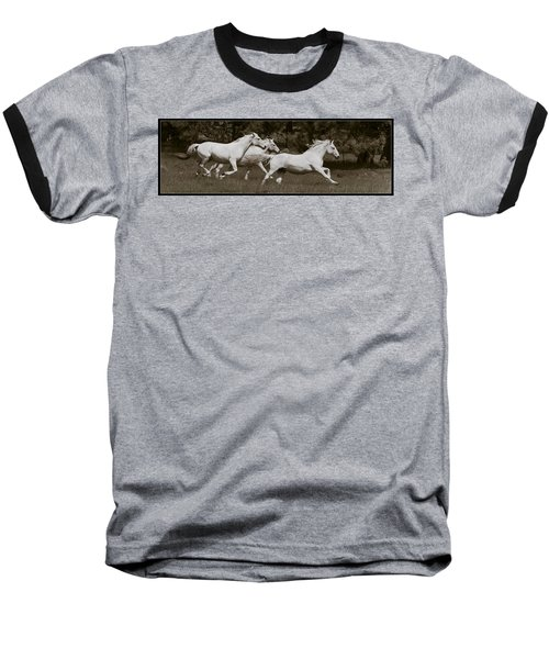And The Race Is On Baseball T-Shirt by Wes and Dotty Weber