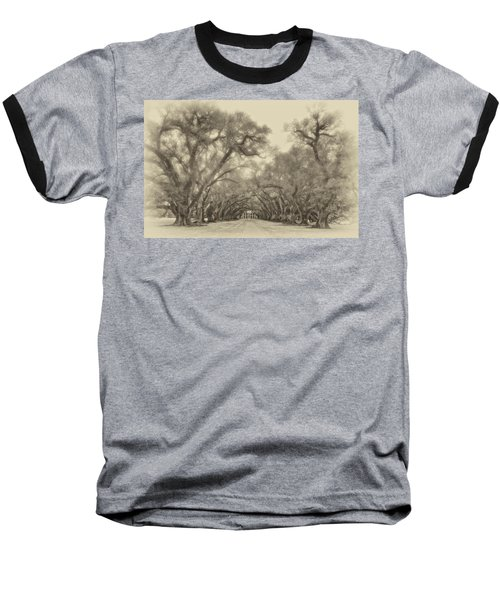 And Time Stood Still Sepia Baseball T-Shirt