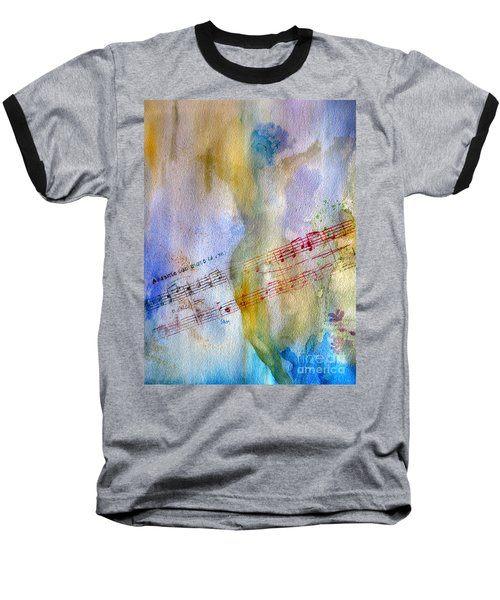 Baseball T-Shirt featuring the painting Andante Con Moto by Sandy McIntire