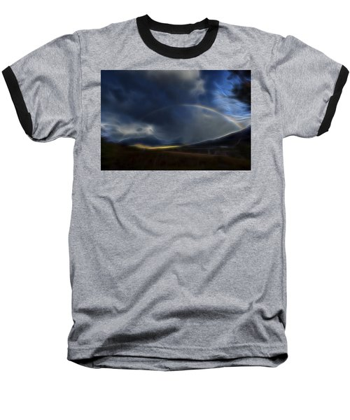 Baseball T-Shirt featuring the digital art Andean Rainbow by William Horden