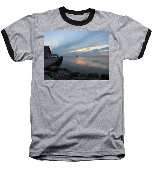 Anderson Dock Sunset Baseball T-Shirt