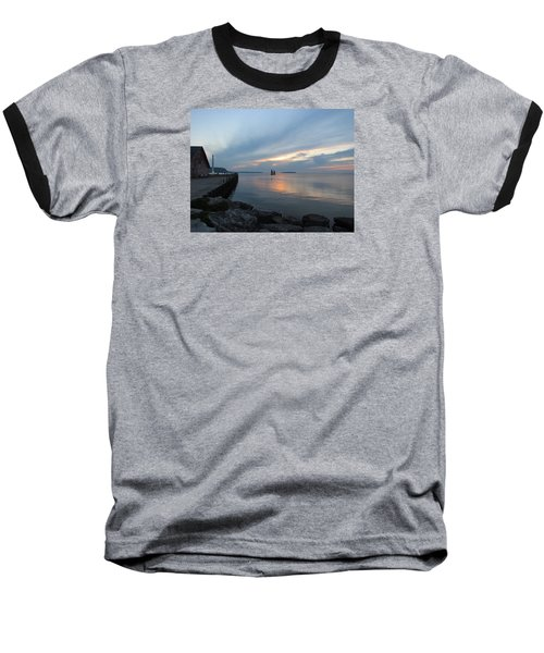 Anderson Dock Sunset Baseball T-Shirt