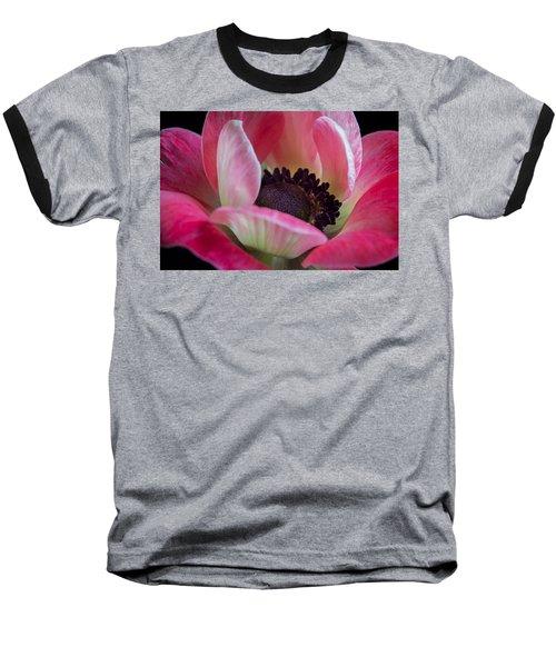 Anemone In Fuchsia Baseball T-Shirt