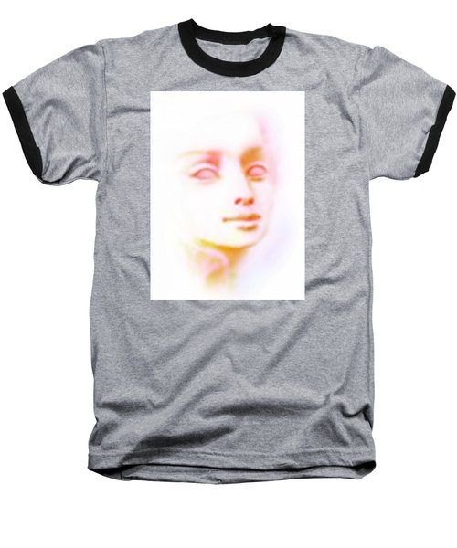 Baseball T-Shirt featuring the painting Angel Angel Oh So Bright by Hartmut Jager