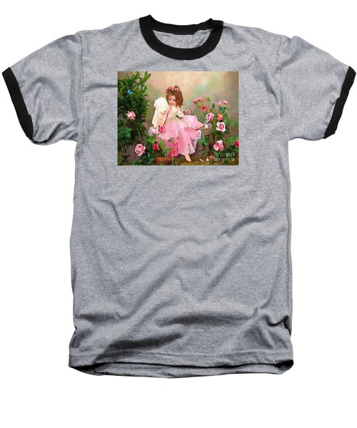 Angel And Baby  Baseball T-Shirt by Catherine Lott