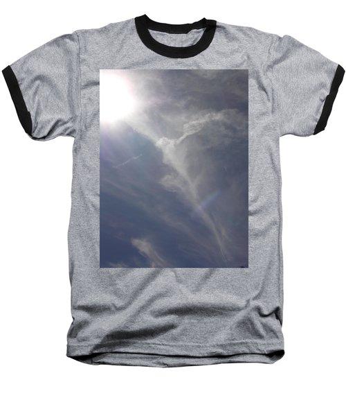 Angel Holding Light Baseball T-Shirt by Deborah Moen