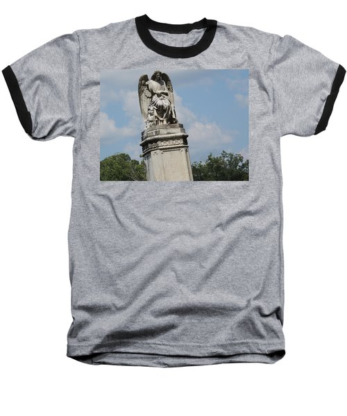 Baseball T-Shirt featuring the photograph Angel Made From Stone by Aaron Martens