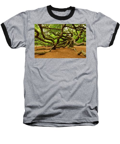 Angel Oak Tree Branches Baseball T-Shirt