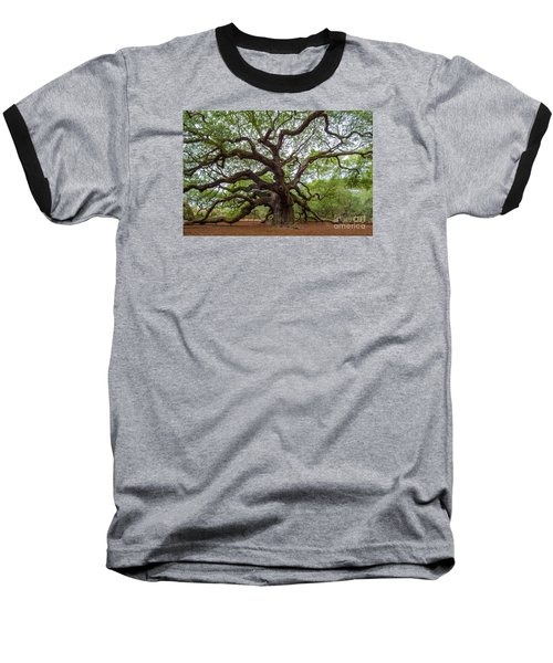 Baseball T-Shirt featuring the photograph Angel Oak Tree by Dale Powell