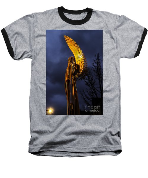 Angel Of The Morning Baseball T-Shirt by Steve Purnell