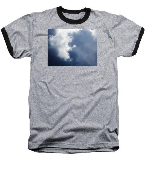 Cloud Angel Kneeling In Prayer Baseball T-Shirt by Belinda Lee