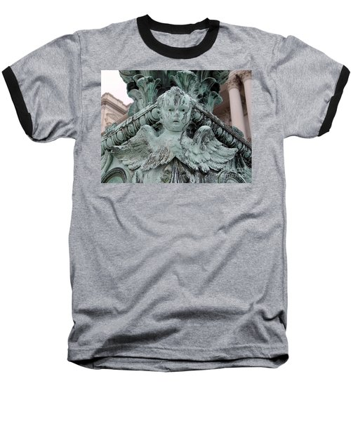 Baseball T-Shirt featuring the photograph Angel Wings by Ed Weidman