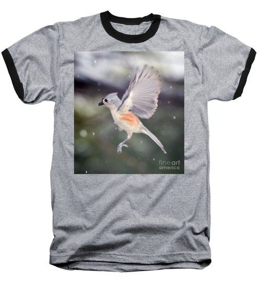 Angel Wings Baseball T-Shirt by Kerri Farley