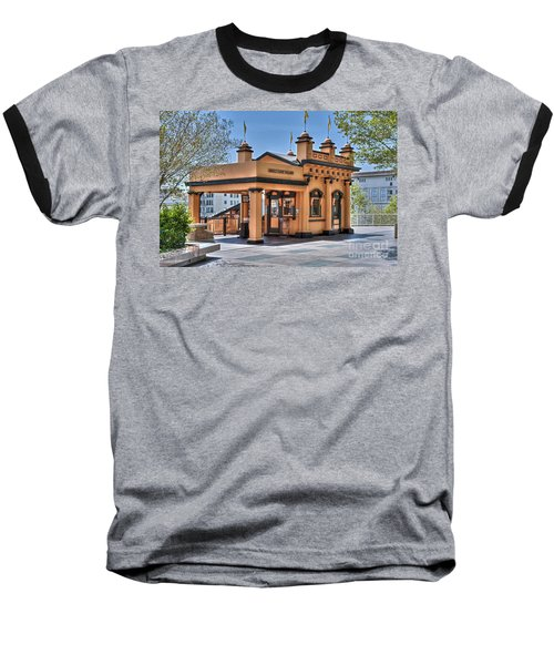 Angels Flight Landmark Funicular Railway Bunker Hill Baseball T-Shirt