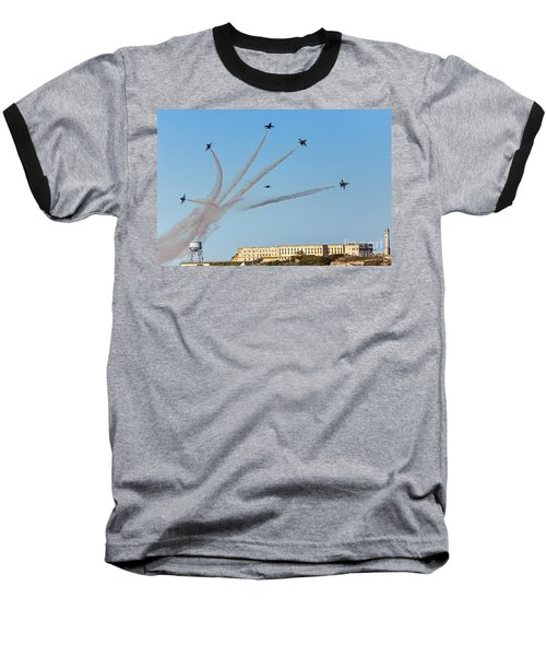 Angels Over Alcatraz Baseball T-Shirt by Kate Brown