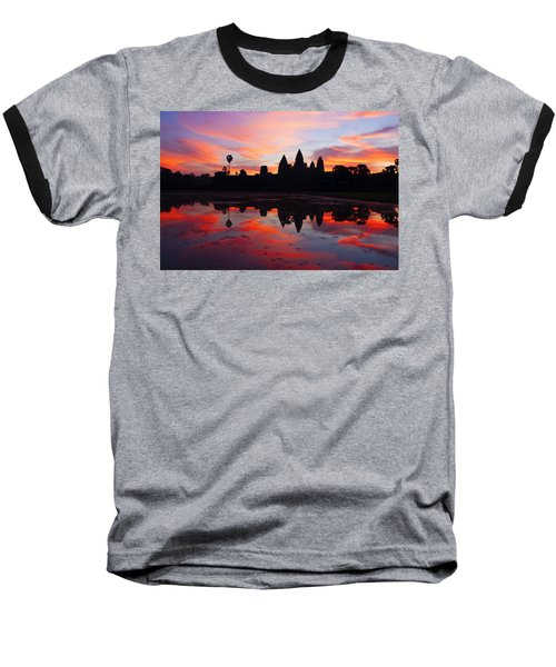 Angkor Wat Sunrise Baseball T-Shirt by Alexey Stiop