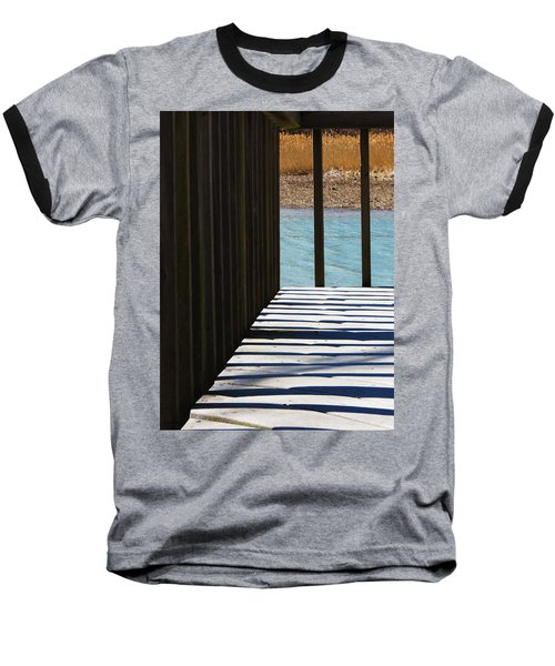 Baseball T-Shirt featuring the photograph Angles And Shadows by Shawna Rowe