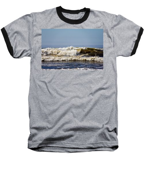 Angry Ocean Baseball T-Shirt by Aaron Berg