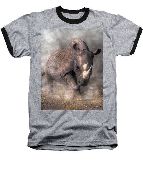 Angry Rhino Baseball T-Shirt