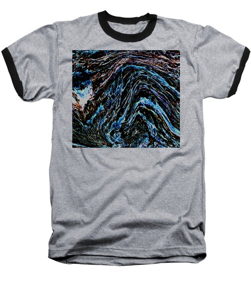 Baseball T-Shirt featuring the photograph Angry Sea by Stephanie Grant